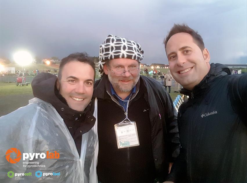 Con Georg Alef de Weco Alemania y Jose Luis-Gimenez de Pirotecnia Vulcano