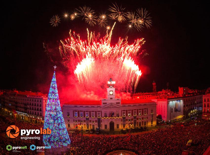 Pyrolab presente en la celebraci n de la nochevieja en for Puerta del sol 2017