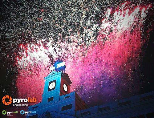 Pyrolab presente en la celebración de la Nochevieja en Puerta del Sol, Madrid 2018